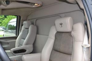 Privacy wall limo van