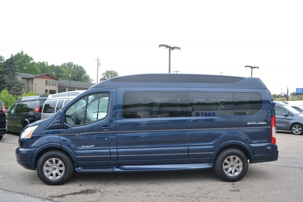 2016 Ford Transit Blue Jeans Metallic 9 passenger Explorer Limited SE with Vista Cruiser Sport Roof
