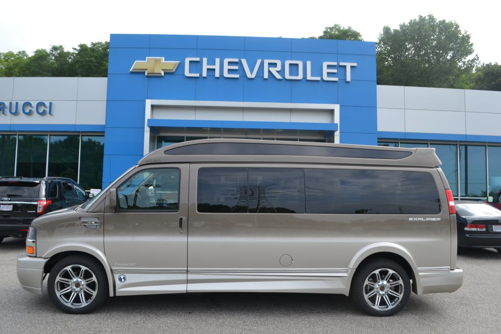 9 Passenger Explorer Conversion Van, Brownstone Metallic Fade to Dark Pearl