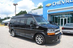 Black Hi top van with Vista Cruiser Glass