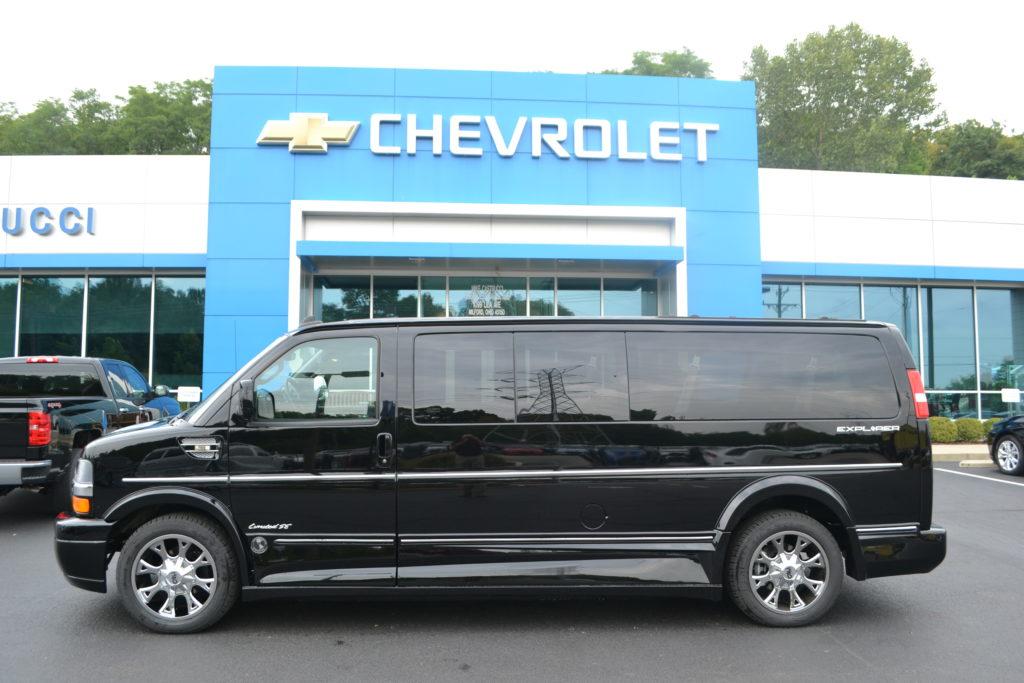 2017 Black Chevrolet Express 2500 Extended 9 Passenger Explorer Limited X-SE