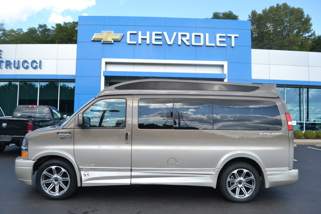 2017 Chevrolet Express Explorer Limited X-SE Brownstone Metallic Fade Mike Castrucci Chevrolet Conversion Van Land