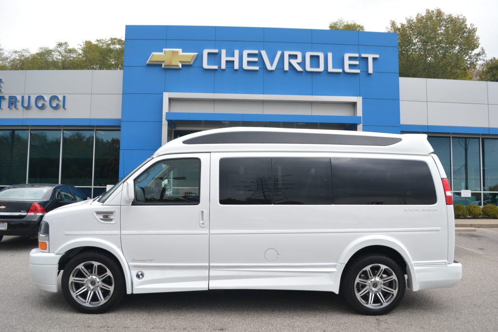 2017 White Explorer Van with Sport Roof and Vista Cruiser Glass Conversion Van Land