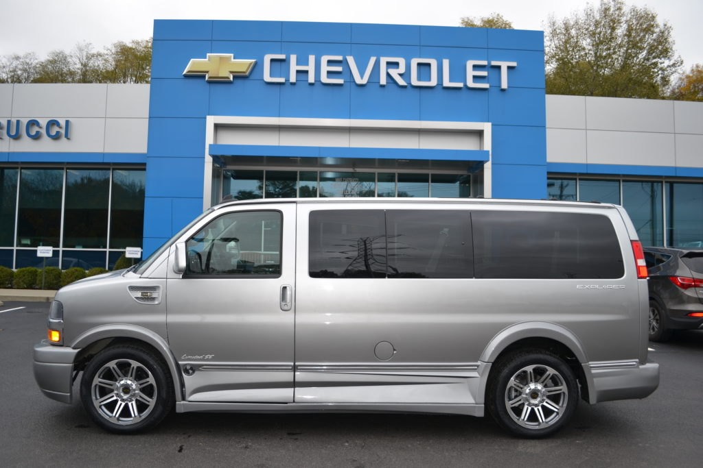2017 Chevrolet Express Explorer Limited X-SE Silver Fade H1291974 Mike Castrucci Chevrolet Conversion Van Land