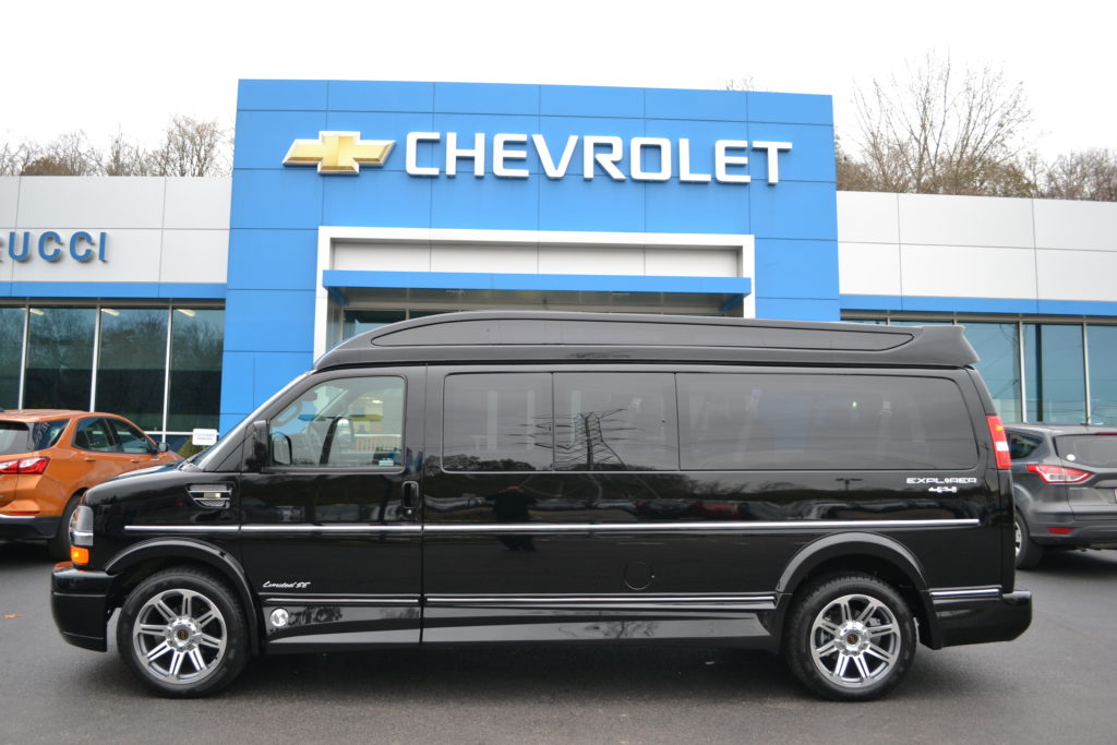 2017 Black 9 Passenger 4X4 Conversion Van Explorer Van Company Mike Castrucci Chevrolet Conversion Van Land H1294828