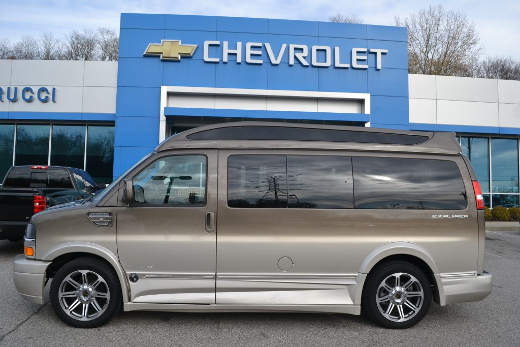 2016 Chevrolet Express, Explorer Hi Top Conversion Van Brownstone Metallic Fade to Dark Pearl