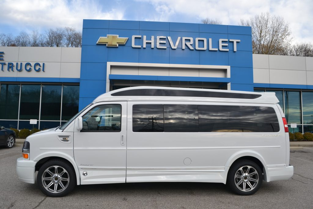 2017 Chevrolet Express Explorer 9 Passenger Conversion Van White Hi top