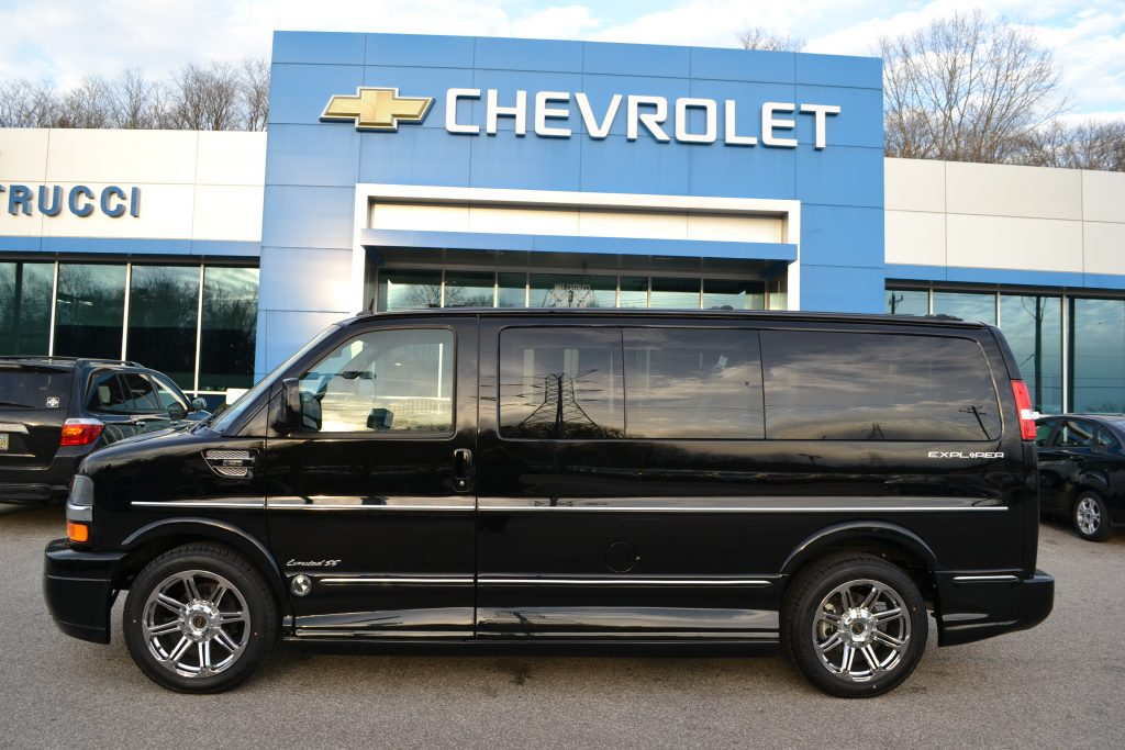 2015 Chevrolet Express Explorer Conversion Van Black Low top Conversion van land