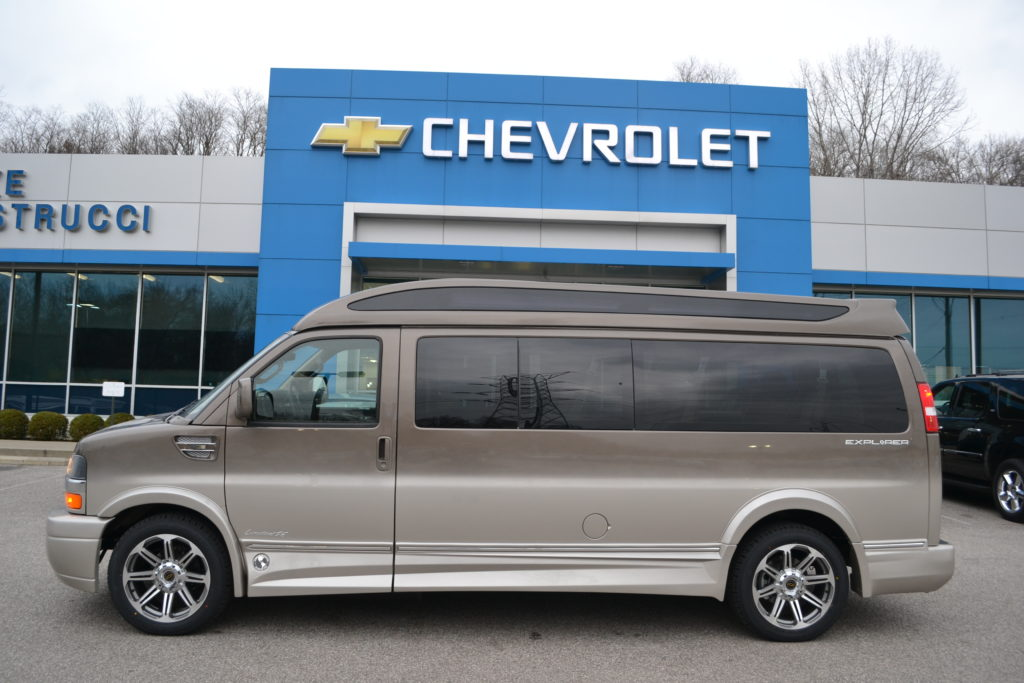 2017 Chevrolet Express Explorer Conversion Van 9 passenger Brownstone Fade H1335616 Mike Castrucci Chevrolet Conversion Van Land